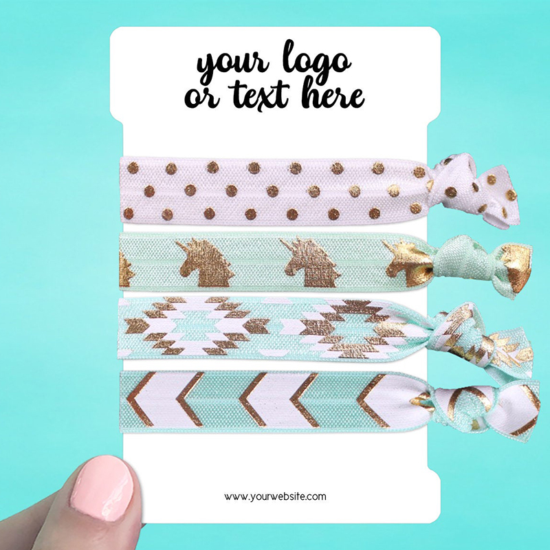 """Set of 28 3 x 4.5"""" Rounded Rectangle Hair Tie Display Cards"""