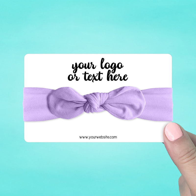 """Set of 30 5 x 3"""" Rounded Rectangle Hair Band Display Cards"""