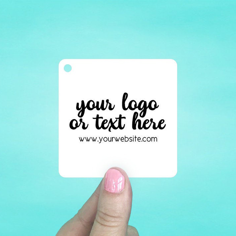 """Set of 45 2.5 x 2.5"""" Rounded Square Hang Tags"""