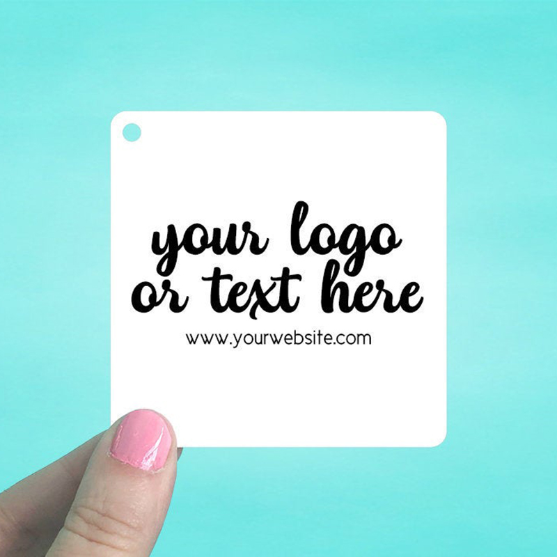 """Set of 42 3 x 3"""" Rounded Square Hang Tags"""