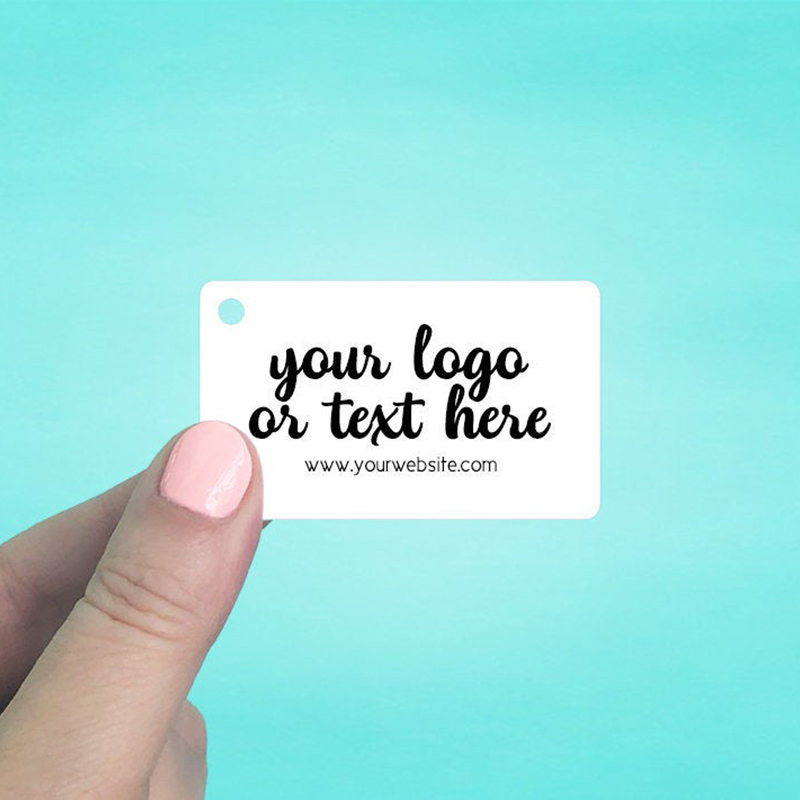 """Set of 75 2.5 x 1.5"""" Rounded Rectangle Shaped Hang Tags"""