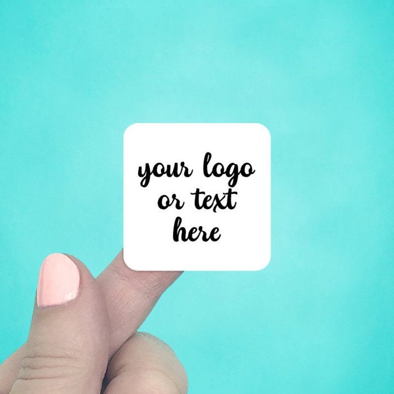 """Set of 48 1.5 x 1.5"""" Rounded Square Labels"""